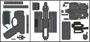 papercraft weapons templates papermau ww2 s russian ppsh 41 submachine gun paper model