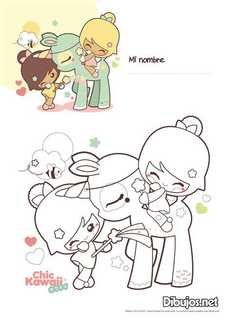 dibujos kawaii para colorear online descarga y colorea los dibujos de chic kawaii 161 son