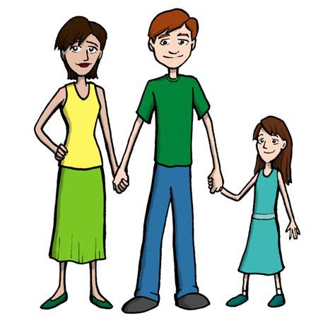 clipart famiglia sta disegno di famiglia a colori