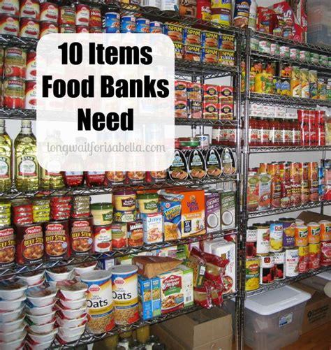 10 items food banks need
