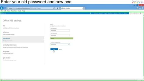 How To Change Password In Office 365 by How To Change Your Office 365 Password