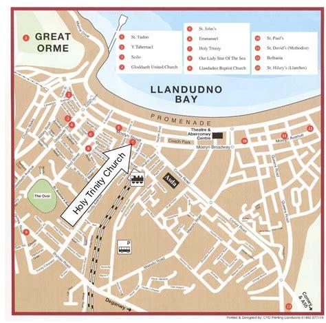 Printable Street Map Of Llandudno   llandudno churches map