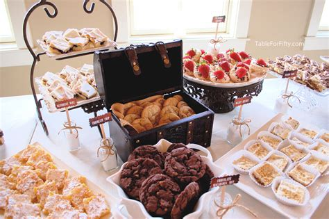 creative weddings try a cookie buffet table for fifty