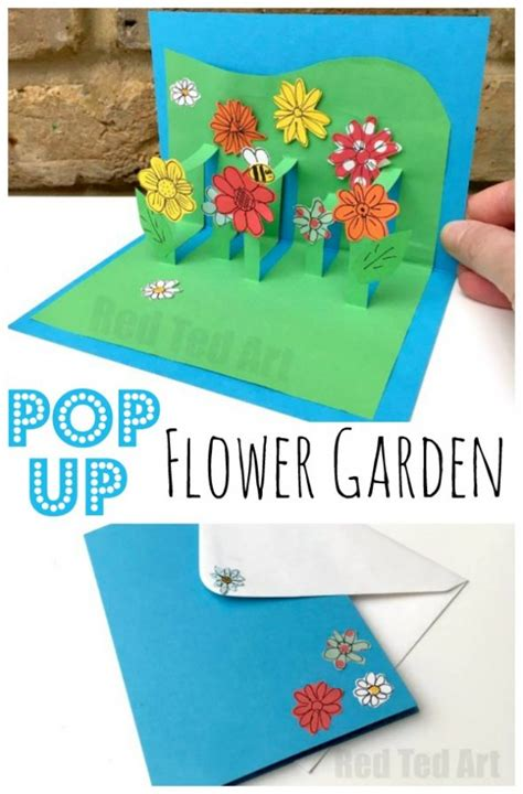 diy beautiful pop up flower card diy mother s day card the best easy diy mother s day gifts and treats ideas