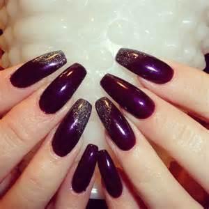 fall color acrylic nails acrylic nails gel nails plum paisley shellac