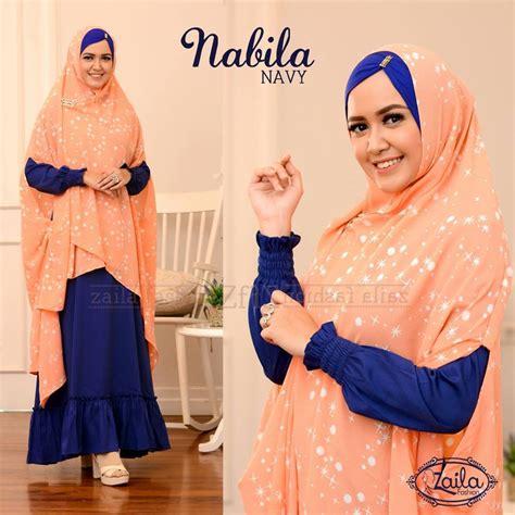 Zaila Dress nabila by zaila fashion jual busana muslim