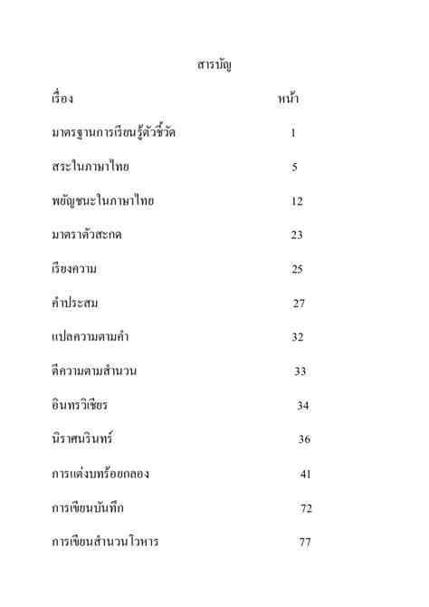 สารบัญภาษาไทย
