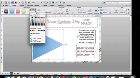 how to make a quick poster by using microsoft word youtube