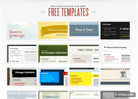 10 Excellent Websites For Downloading Free Html Email Newsletter Templates Ginva Email Template Free