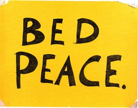 bed peace tittenhurst park bed peace sign posted in the hilton