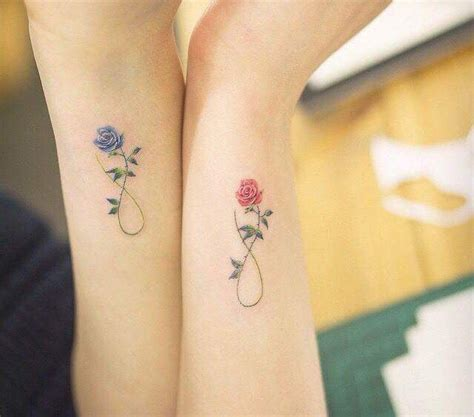 matching rose tattoos best friends flower tattoos pictures tattoos