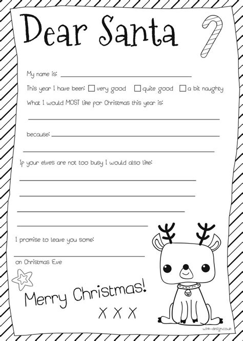 Dear Santa Letter Christmas Let S Talk About To Santa Pinterest Santa Letter Christmas Free Printable Letters From Santa Templates 2