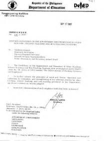 sle application letter for promotion in deped