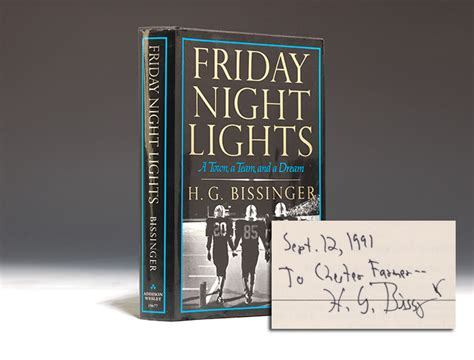 friday night lights book author friday night lights first edition signed h g