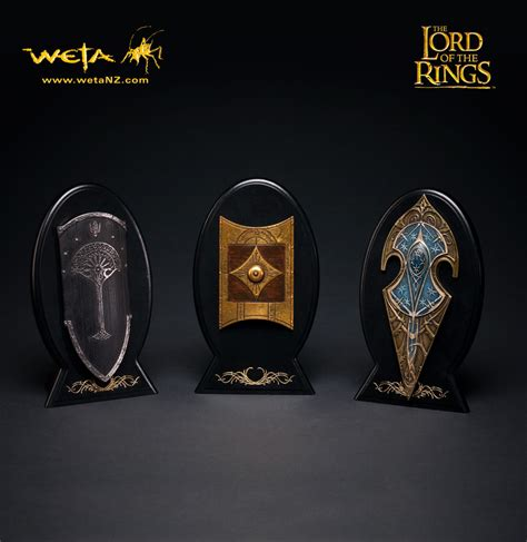 Replica Hnm Ring Mini lord of the rings mini replica numenorean shield by weta images at mighty ape nz