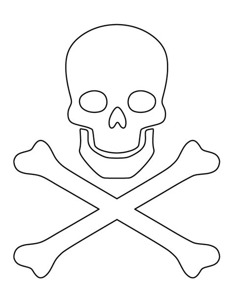 skull and crossbones pattern use the printable outline