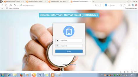 membuat website rumah sakit sourcecode sistem informasi rumah sakit php sql bootstrap