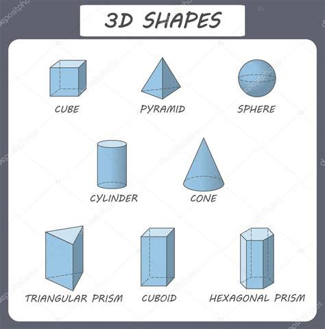 figure 3d figure 3d di vettore poster educativi per i bambini set