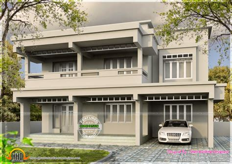 sq feet details facilities house sq feet flat roof july 2014 kerala home design and floor plans