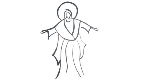 Easy To Draw Jesus by How To Draw Jesus Step By Step For Easy Drawing For Drawing
