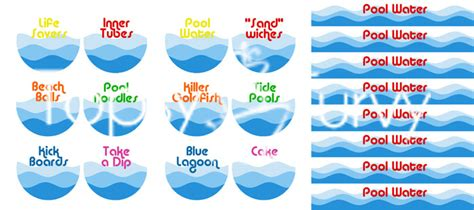 beach labels for party snacks summer beach party pool pool birthday party recipes labels ashlee marie