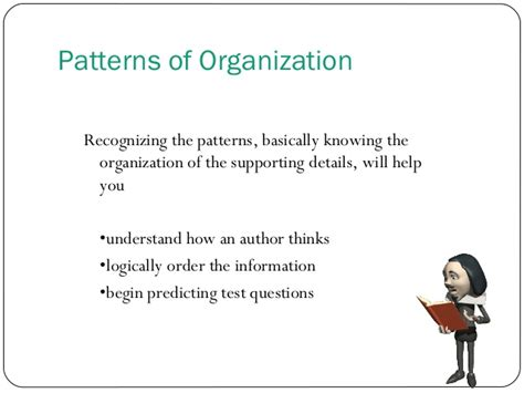 pattern of organization signal words recognizing patterns of organization