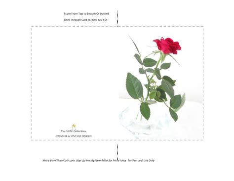 free printable birthday cards roses printable greeting card rose