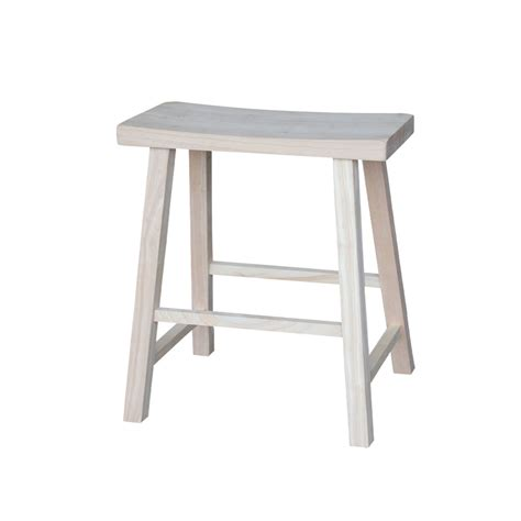 24 Inch Wood Saddle Stool by 9841s682 055