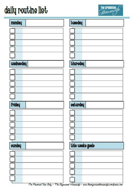 printable daily schedule chart 5 best images of printable daily routine chart free
