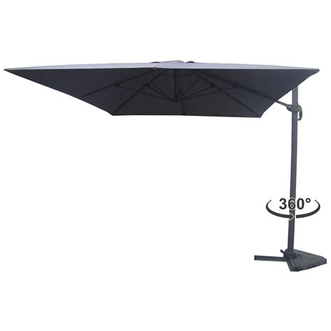 Parasol Deporte Inclinable by Parasol D 233 Port 233 Rotatif Inclinable Cesare 3x4m Gris