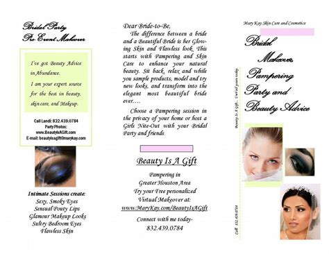 wedding makeup brochure bridal brochure from is a gift skin care