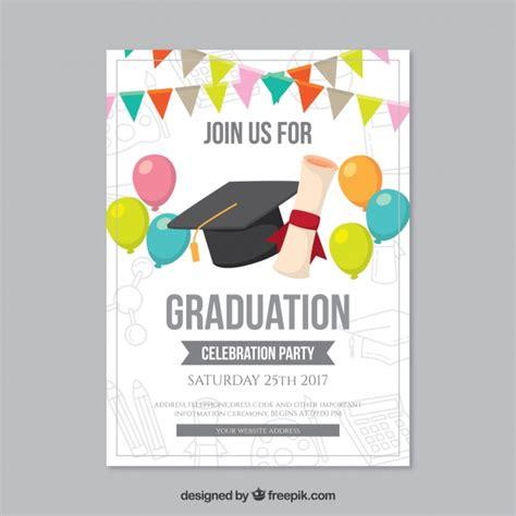 www freepik es plantillas de graduacion folleto de fiesta de graduaci 243 n con globos y guirnaldas