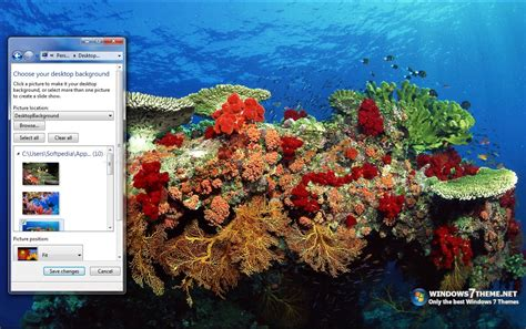download themes for windows 7 with sound coral reef windows 7 theme with sound download