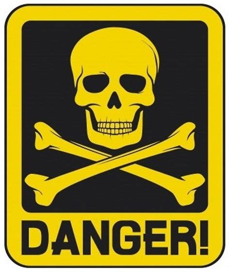 The Danger quot danger skull and crossbones quot by phatmikey redbubble