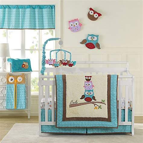 Crib Bedding Owls Laugh Giggle Smile Spotty Owls Crib Bedding Collection Bed Bath Beyond