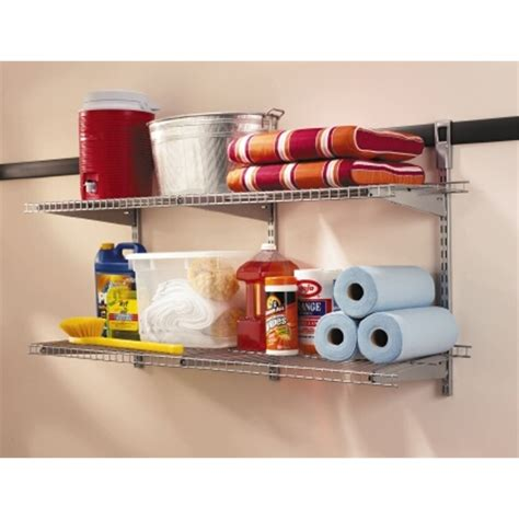 rubbermaid fasttrack garage wire shelf starter kit