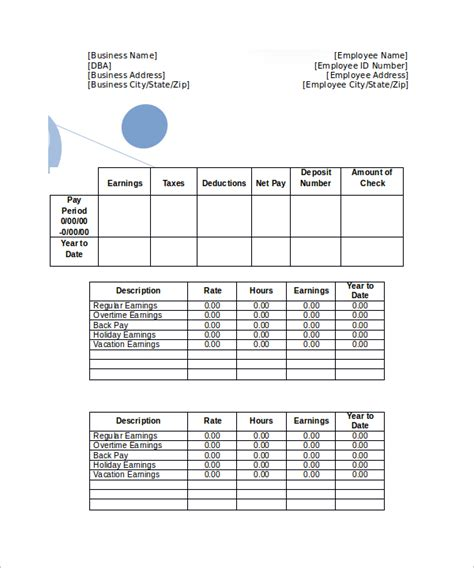 pay stub creator excel pay stub format in excel pay stub template