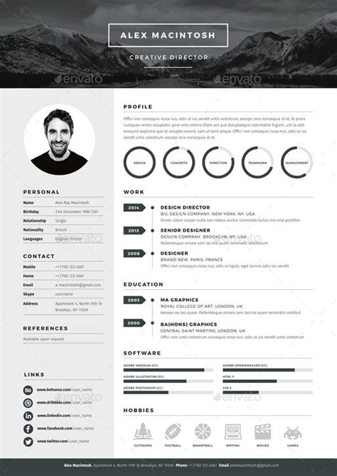 Mono Resume Template By Www Ikono Me 3 Page Templates 90 Icons Adobe Indesign Illustrator Adobe Indesign Resume Template