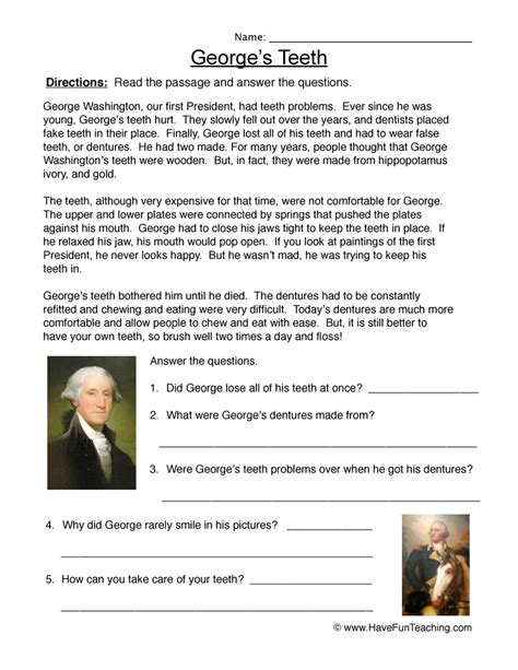 biography of george washington for third graders george washington common core third grade worksheets