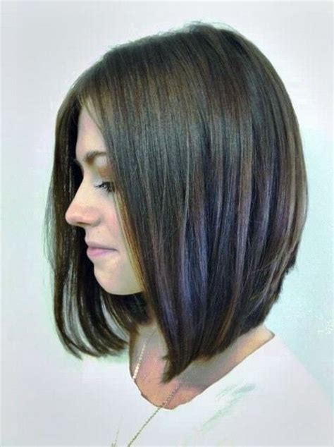 long angled bob hairstyles with back and side views and bangs 25 best long angled bob hairstyles we love hairstylec