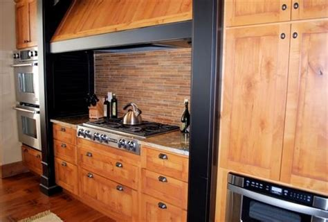 knotty pine kitchen cabinets online knotty alder with painted black distressed accents