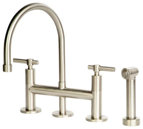 bridge style kitchen faucets giagni dolo bridge kitchen faucet with spray kitchen