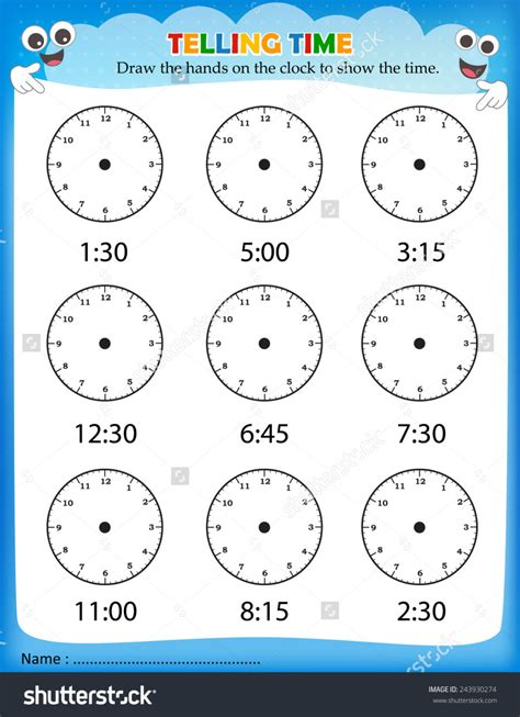 Clock Faces Without Worksheet writing practice number five printable activities