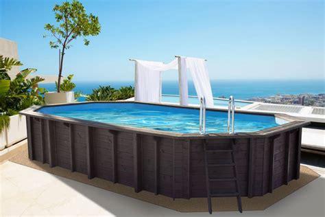 schwimmbecken zum aufstellen swimmingpools f 252 r den garten kaufen im holz haus de