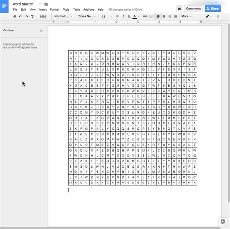 Crossword Template For Google Docs | make your own word search in google sheets teacher tech