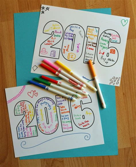 new year crafts for 2016 2016 word printable for make and takes