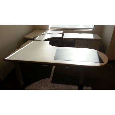 steelcase corner desk steelcase powered height adjust sit stand corner desk w