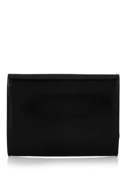 Envelope Coin Purse lyst givenchy envelope coin purse in black leather in black