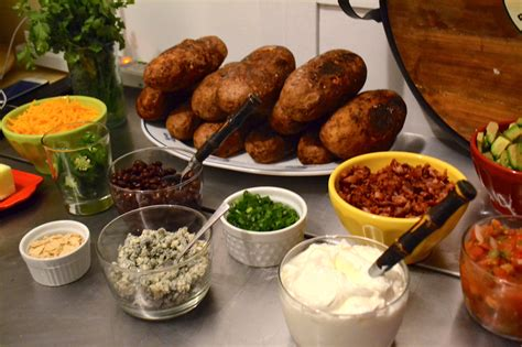 baked potato bar hearty and filling toppings to create a