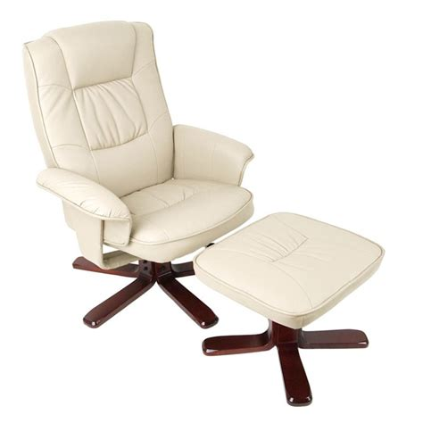 Buy Recliner Chair Pu Leather Swivel Recliner Lounge Chair And Ottoman Buy
